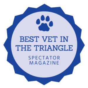 Best Vet in the Triangle by Spectator Magazine