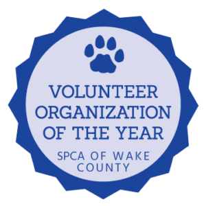 Volunteer Organization of the Year by SPCA of Wake County