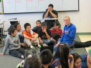 Dr Wages talks to Alaskan kids about veterinary medicine